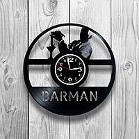 Настенные часы из пластинки Бармен, подарок бармену, в бар, паб, кафе, ресторан, 1241