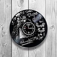 Настенные часы из пластинки Вейп шоп Vape Shop, подарок вейперу, 1243