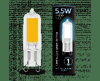Лампа Gauss G9 AC220-240V 5.5W 500lm 4100K стекло LED 1/10/200