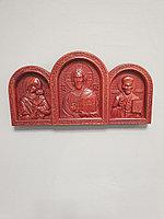 Икона резная из дерева ММТ Триптих, 29 х 14 х 3 см