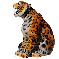 Садовая фигура Леопард, декор, фигурка, скульптура для сада, керамическая, ландшафтная, 52 см