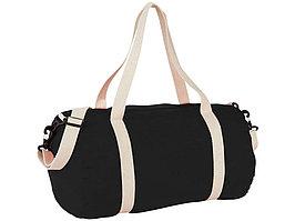 Хлопковая сумка Barrel Duffel, черный/бежевый (артикул 12019500)