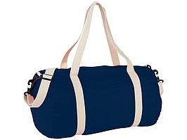 Хлопковая сумка Barrel Duffel, темно-синий/бежевый (артикул 12019501)