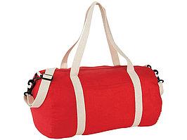 Хлопковая сумка Barrel Duffel, красный/бежевый (артикул 12019502)