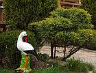 Садовая фигура Аист, декор, фигурка, скульптура для сада, керамическая, ландшафтная, 50*25*21 см, фото 2