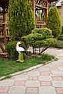 Садовая фигура Аист, декор, фигурка, скульптура для сада, керамическая, ландшафтная, 50*25*21 см, фото 3