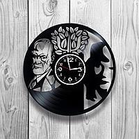 Настенные часы из пластинки, Зигмунд Фрейд, подарок психологу, 1247