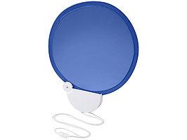 Складной вентилятор (веер) Breeze со шнурком, ярко-синий/белый (артикул 10050401)