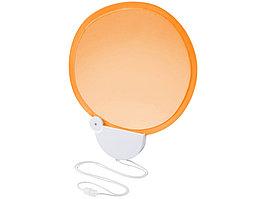 Складной вентилятор (веер) Breeze со шнурком, оранжевый/белый (артикул 10050404)