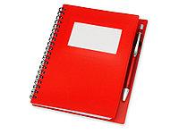 Блокнот Контакт с ручкой, красный (артикул 413501), фото 1