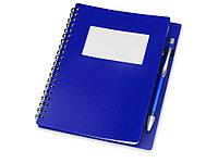 Блокнот Контакт с ручкой, синий (артикул 413502), фото 1