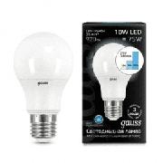 Лампа Gauss A60 10W 920lm 4100K E27 шаг. диммирование LED 1/10/50