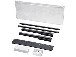 Набор Mindy: ручки шариковые, карандаши, линейка, точилка, ластик, черный (артикул 10722100)