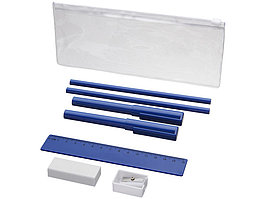 Набор Mindy: ручки шариковые, карандаши, линейка, точилка, ластик, синий (артикул 10722101)