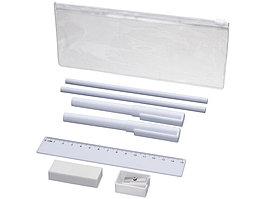 Набор Mindy: ручки шариковые, карандаши, линейка, точилка, ластик, белый (артикул 10722102)