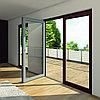 Алюминиевые двери с распашной системой открывания