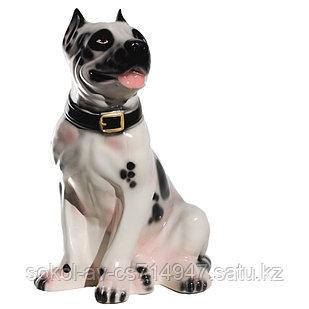 Садовая фигура собака Стафф, декор, фигурка, скульптура для сада, керамическая, ландшафтная, 44*30*22 см, б