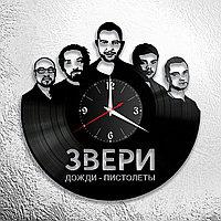 Настенные часы из пластинки, группа Звери Роман Билык, подарок фанатам, любителям, 0597