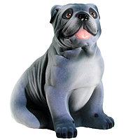 Копилка / статуэтка, керамическая собака Бульдог, 32*31*21 см