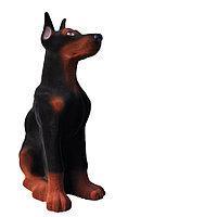 Копилка / статуэтка, керамическая собака Доберман, 43*26*16 см