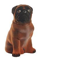 Копилка / статуэтка, керамическая собака Мопс, 28*24*16 см