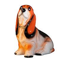 Копилка / статуэтка, керамическая собака Бассет-хаунд, 32 см