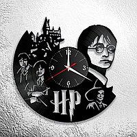Настенные часы из пластинки Гарри Поттер Harry Potter, подарок фанатам, любителям, 0876