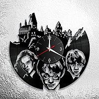 Настенные часы из пластинки Гарри Поттер Harry Potter, подарок фанатам, любителям, 0877