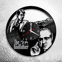 Настенные часы из пластинки The Godfather Крестный отец, подарок в стиле мафии фанатам, любителям, 0882