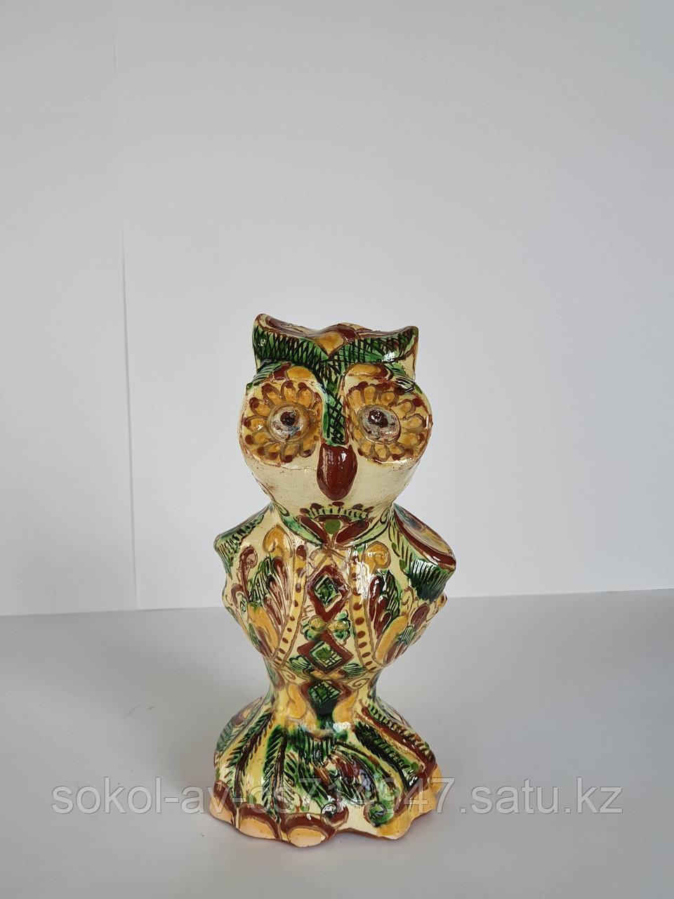 Статуэтка Hand Made Косовская керамика, ручная роспись, Сова, 15 х 19 см
