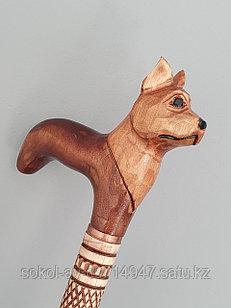 Трость ручной работы, резная, деревянная, для ходьбы, Собака, подарок бабушке, дедушке, пожилым