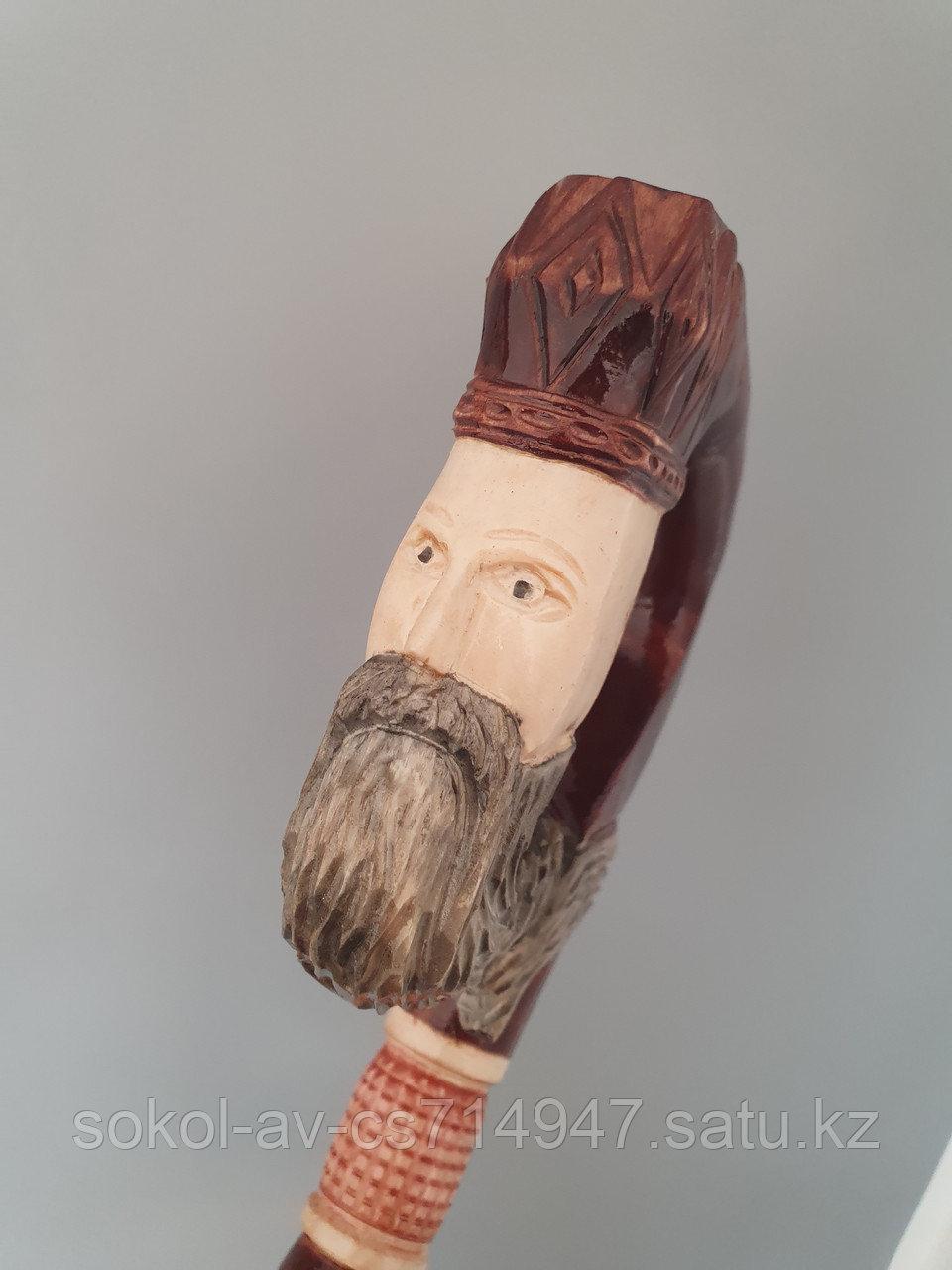 Трость ручной работы, резная, деревянная, для ходьбы, Нептун, подарок бабушке, дедушке, пожилым