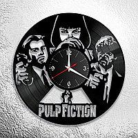 Настенные часы из пластинки Криминальное Чтиво Pulp Fiction, подарок в стиле мафии фанатам, любителям, 0884
