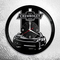 Настенные часы из пластинки Chevrolet Camaro Шевроле, подарок фанатам, любителям, владельцам, 0919