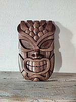 Панно маска настенная резная из дерева, декоративная, 23 х 15 х 3 см