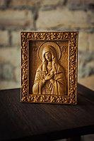Икона резная из дерева Божией Матери, 18 х 22 х 2 см