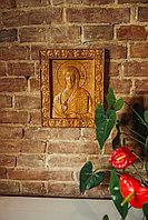 Икона резная из дерева Спаситель, 18 х 22 х 2 см