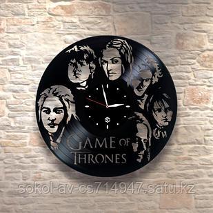 Настенные часы из пластинки Игра престолов Game of Thrones подарок фанатам, любителям 0064