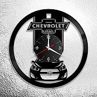 Настенные часы из пластинки Chevrolet Cruze Шевроле, подарок фанатам, любителям, владельцам, 0920