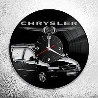Настенные часы из пластинки Chrysler Крайслер, подарок фанатам, любителям, владельцам, 0921