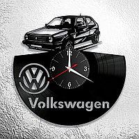 Настенные часы из пластинки volkswagen фольксваген, подарок фанатам, любителям, владельцам, 0941