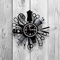 Настенные часы из пластинки Швейная мастерская / ателье, подарок дизайнеру одежды, швее, портному, 1240