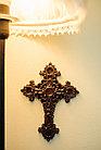 Панно крест резной настенный из дерева Орнамент, 13.6 x 18.6 см, фото 3