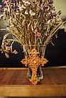 Панно крест резной настенный из дерева Орнамент, 13.6 x 18.6 см, фото 4