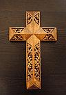 Панно крест резной настенный из дерева Итальянский, 11.8 x 19.3 см, фото 2