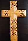 Панно крест резной настенный из дерева Итальянский, 11.8 x 19.3 см, фото 3
