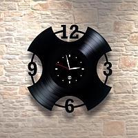 Настенные часы из пластинки, лофт, в офис, кухню, прихожую, гараж, комнату, 0435