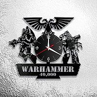 Настенные часы из пластинки игра Warhammer 40000, подарок фанатам, любителям, 1022