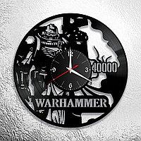 Настенные часы из пластинки игра Warhammer 40000, подарок фанатам, любителям, 1023