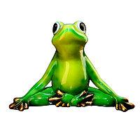 Садовая фигура Лягушка (жаба), декор, фигурка, скульптура для сада, керамическая, ландшафтная, 40*27*25 см